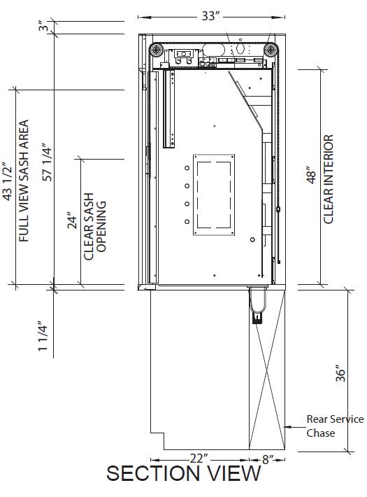Isolator Bench Top Fume Hoods Diagram