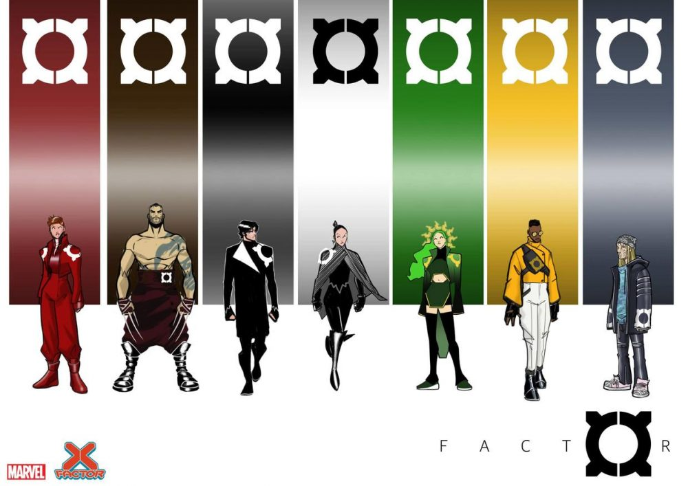 X-Factor, character design di David Baldeon