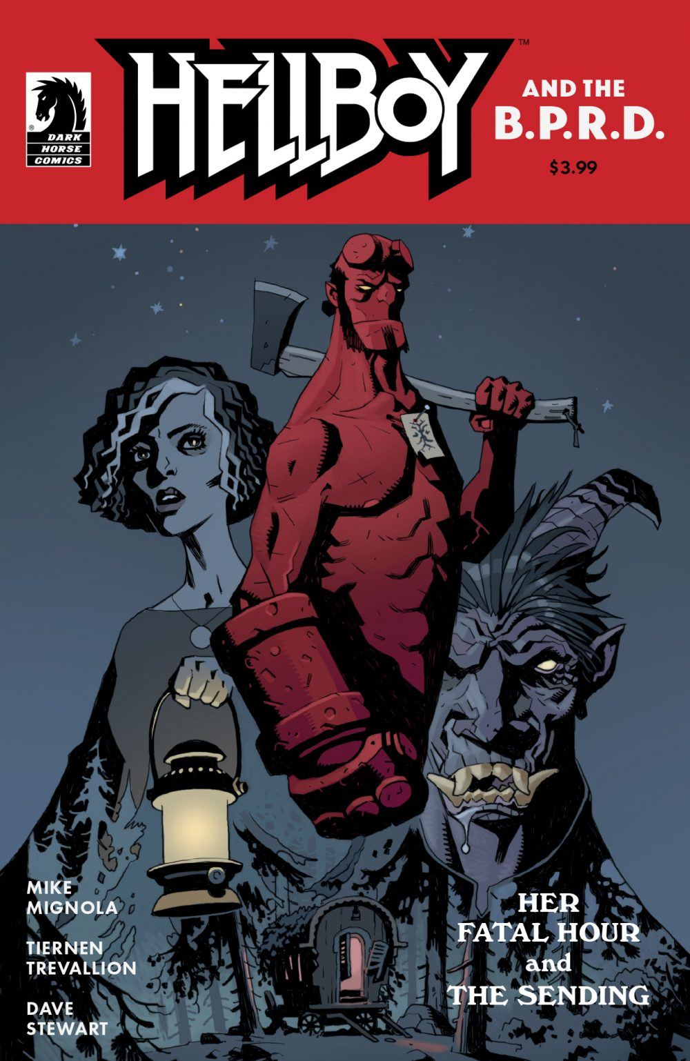 Hellboy and the B.P.R.D.: Her Fatal Hour, copertina di Mike Mignola
