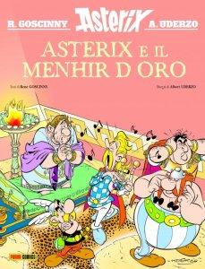 Asterix e il menhir d'oro, copertina di Albert Uderzo