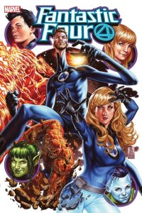 Fantastic Four #25, copertina di Mark Brooks