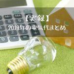 【実録】2019年の電気代まとめ
