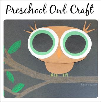 Book-Inspired Preschool Owl Craft | Fun-A-Day!