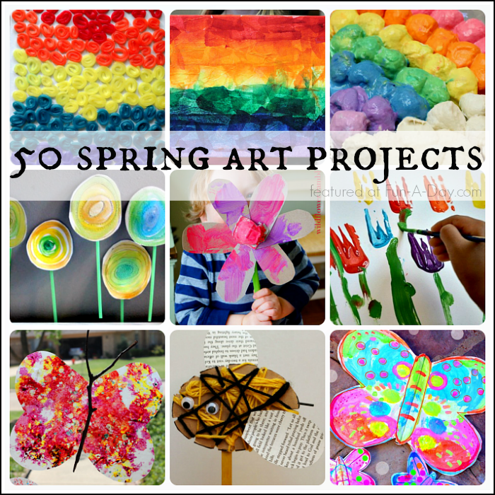 Absolutely Beautiful Spring Art Projects For Kids To Make