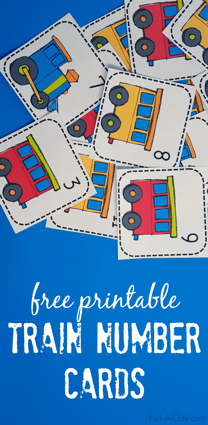 Printable Train Number Matching Card Game
