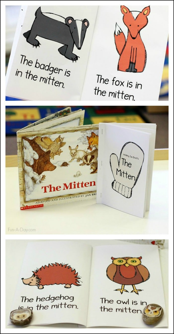 The Mitten Printable Emergent Reader For Preschool And