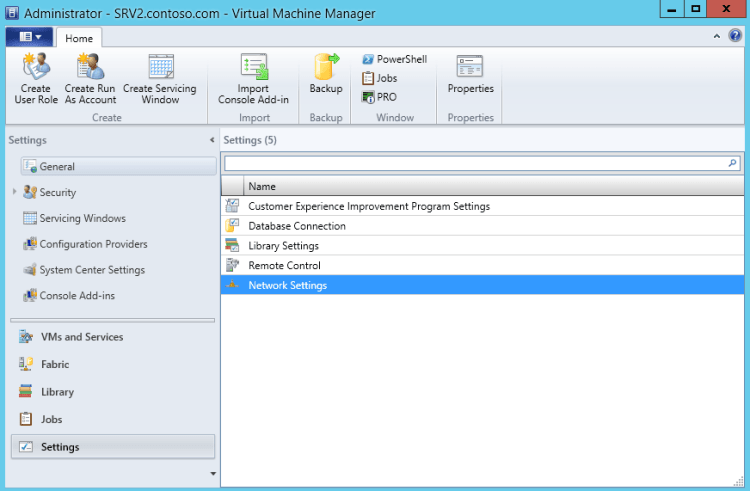 Настройка сети в System Center 2012 R2 Virtual Machine Manager