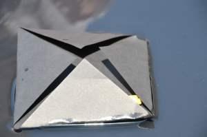 Folded triangles- hidden Lego men!