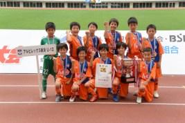 優勝したアルビレックス新潟U-12