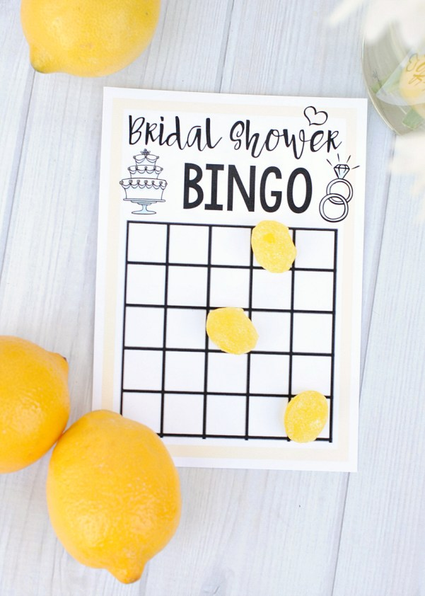 Printable Bridal Shower Bingo Game
