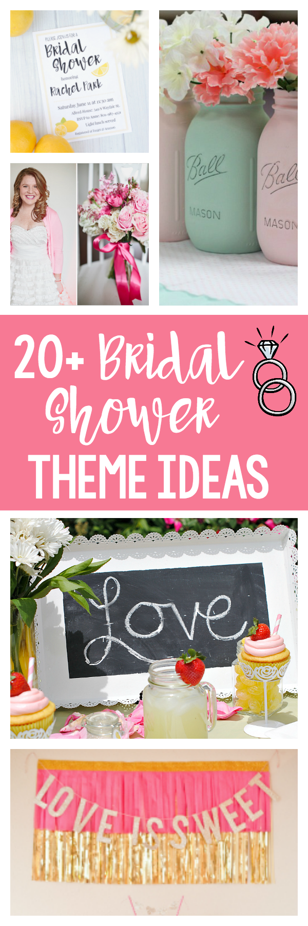 20 Fun Bridal Shower Themes and Ideas-Everything from summer fun to vintage and a whole bunch more. Tons of great bridal shower theme ideas to you rolling with planning your shower. #bridalshower #wedding #bridalshowers #bridalshowerthemes