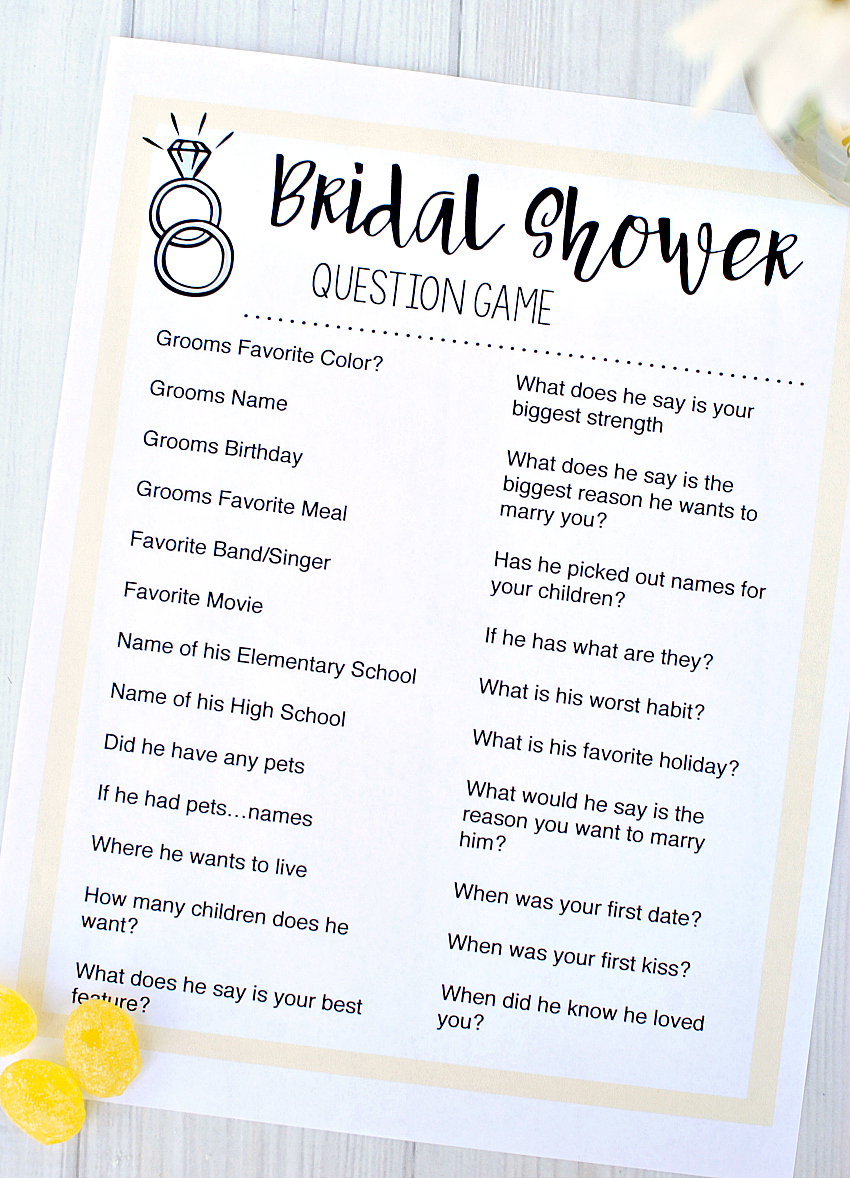 graphic relating to Printable Wedding Shower Games called Totally free Printable Bridal Shower Video games Exciting-Squared