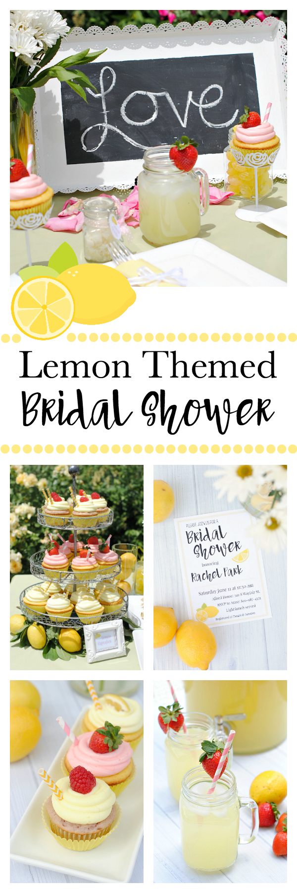 Fun Lemon Themed Summer Bridal Shower Theme