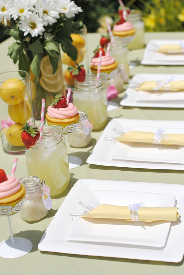 Lemon Themed Bridal Shower Table