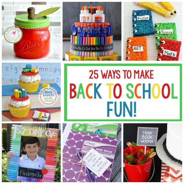 25 Fun Back to School Ideas