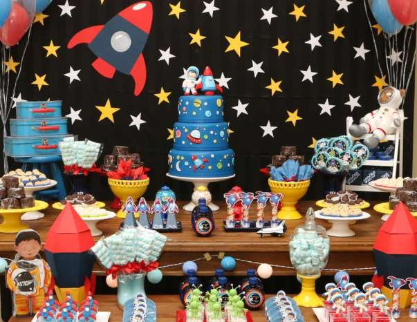 Space Themed Birthday Party for Kids