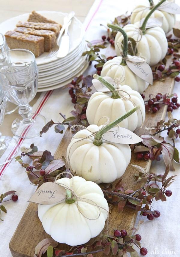 Pumpkin Table Settings