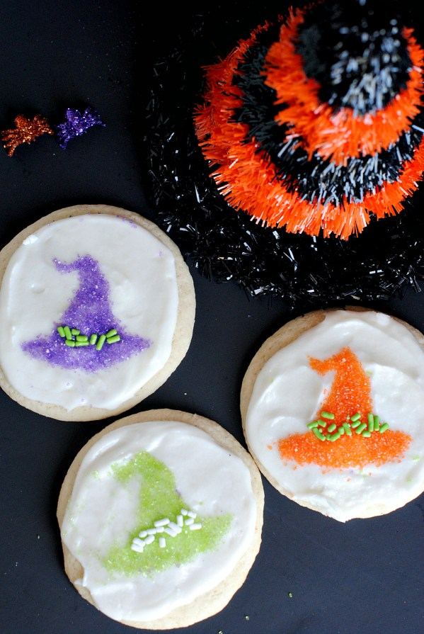 Cute Cookies for Halloween Witch Hats