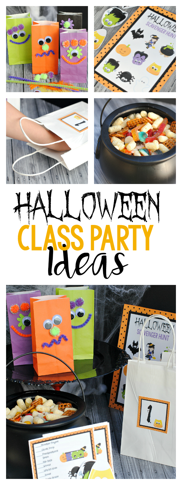 Halloween School Party Ideas-2 Games, a Snack and a Craft! The party is all planned for you!