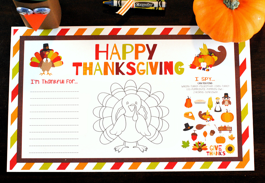 Kid's Thanksgiving Table Ideas
