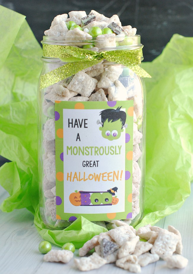 Cute Halloween Gifts: Monster Chex Mix