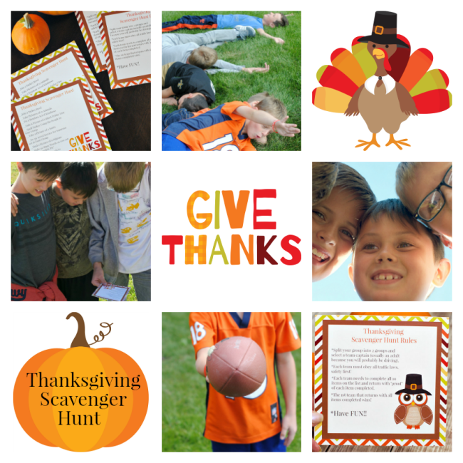 Thanksgiving Family Games-Scavenger Hunt