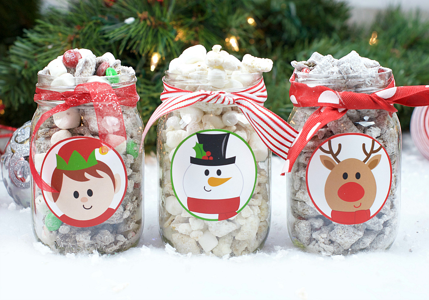 Christmas Puppy Chow Recipe Gift Fun Squared