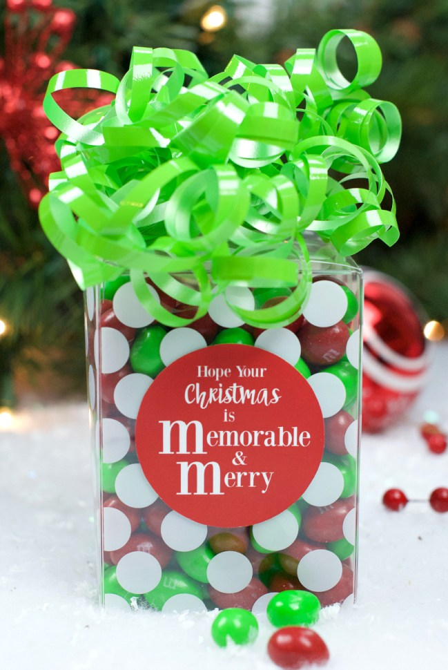 M&M Chocolate Gift Idea for Christmas