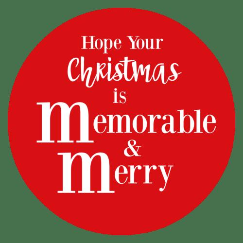 M&M Tag for Chocolate Christmas Gift