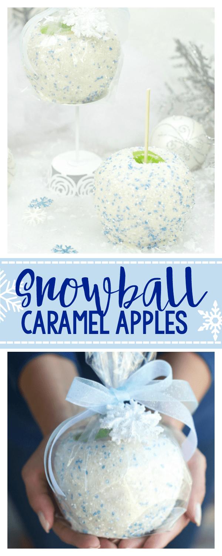Snowball White Chocolate Caramel Apples