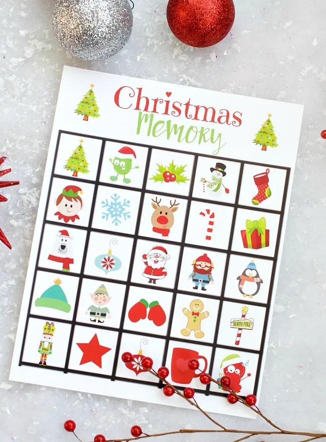 Free Printable Christmas Memory Game for Kids
