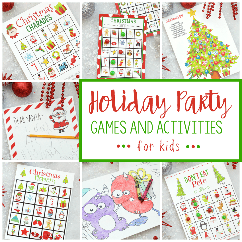 picture regarding Free Printable Christmas Games for Adults referred to as No cost Printable Family vacation Bash Online games for Children Exciting-Squared