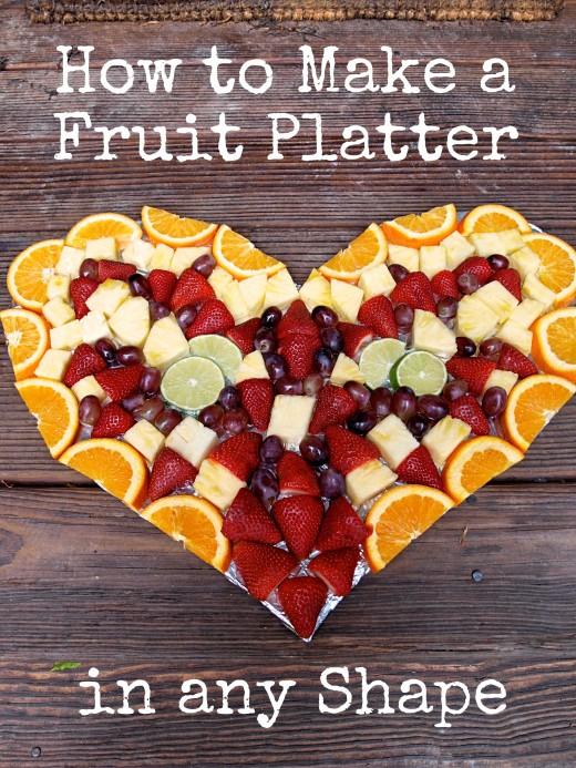 Fruit Platter for Valentine's Day