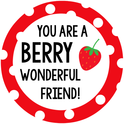 Berry Wonderful Friend Tag