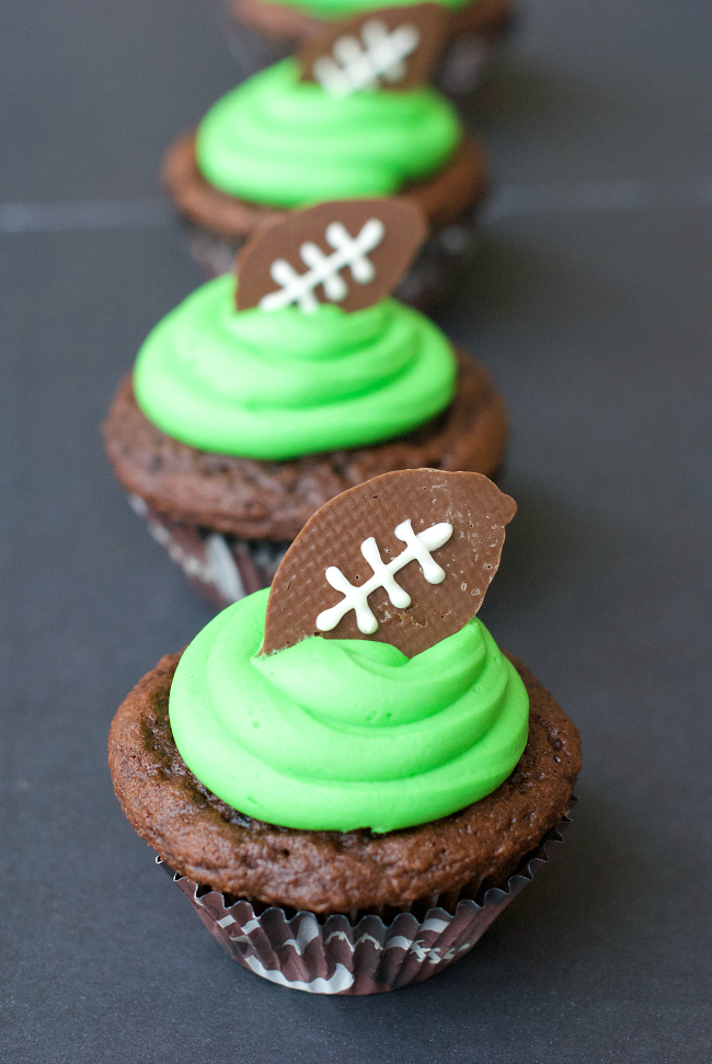 Football Cupcakes Recipe for a Football Party