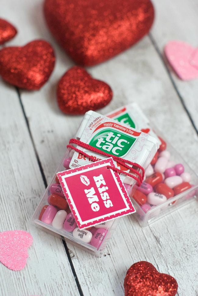 Kiss Me Tic Tac Valentine