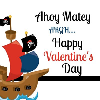 Pirate School Valentine Ideas for Boys Printable Tag