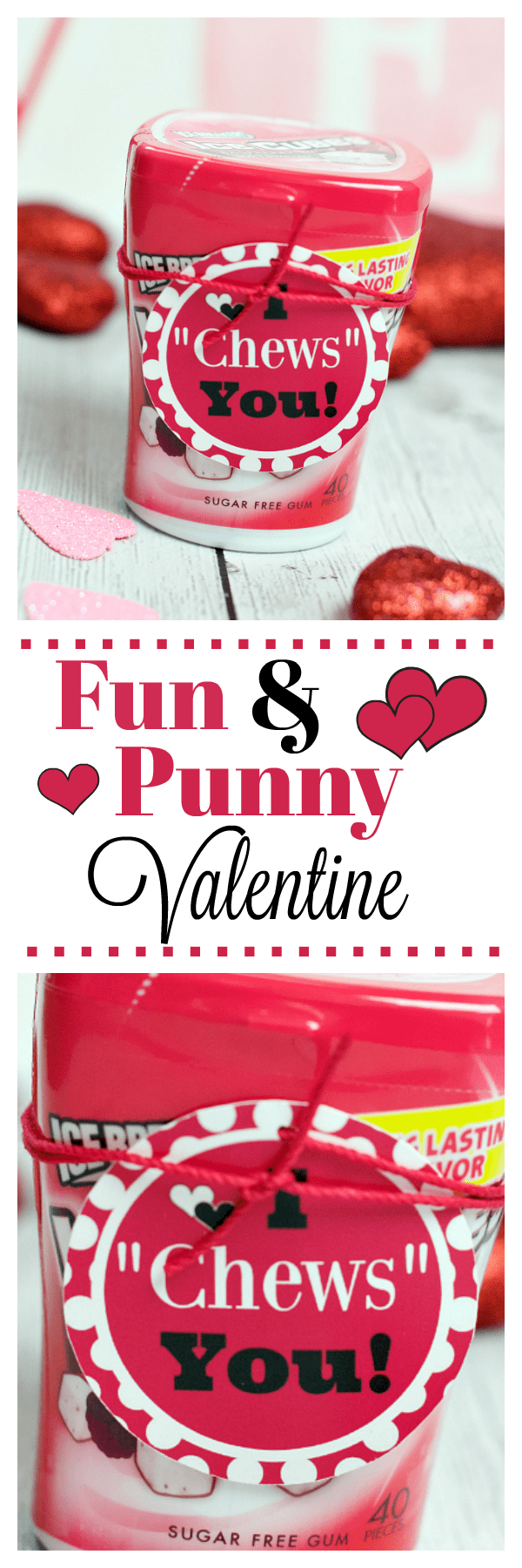 Fun and Punny Valentine. Such a fun way to say Happy Valentine's Day! And it's as simple as adding this tag we have all ready for you! #valentine #valentinesday #funvalentine #punnyvalentine