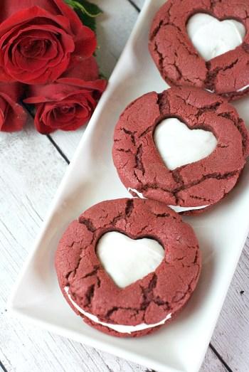 Red Velvet Valentine's Cookies