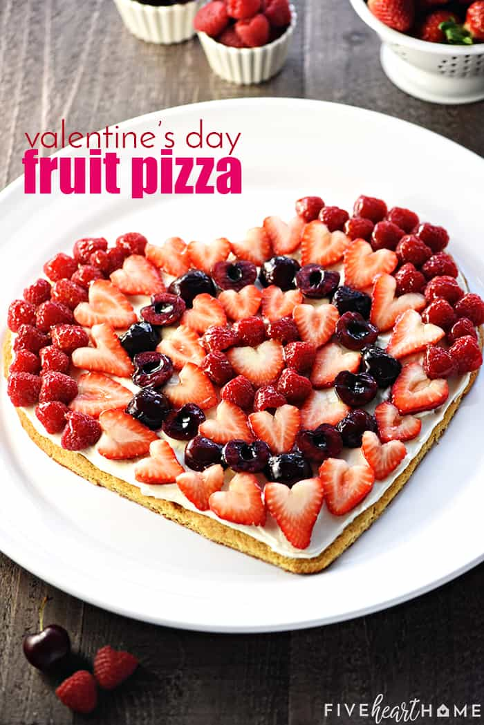 Heart Shaped Fruit Pizza