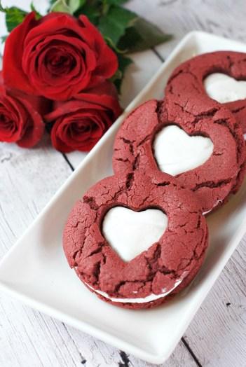 Red Velvet Whoopie Pies Valentine's Day Cookies