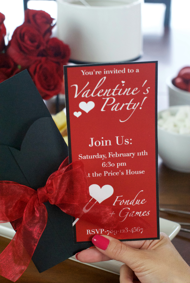 Valentine's Party Invitations