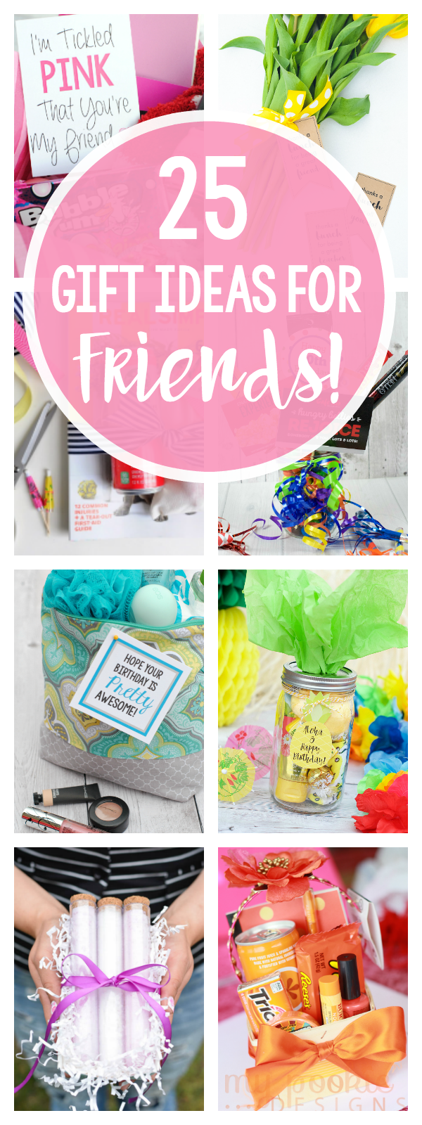 Cute Gift Ideas for Best Friends for All Occasions! Birthdays, Thank You, Holidays, Just Because & More. So many fun gift ideas for all occasions. #fungifts #giftideas #giftsforfriends #gifts