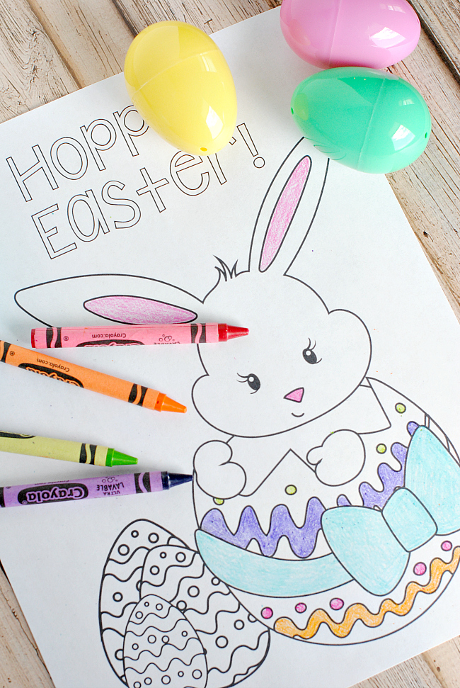 25 easter party ideas fun squared, easter bunny coloring pages