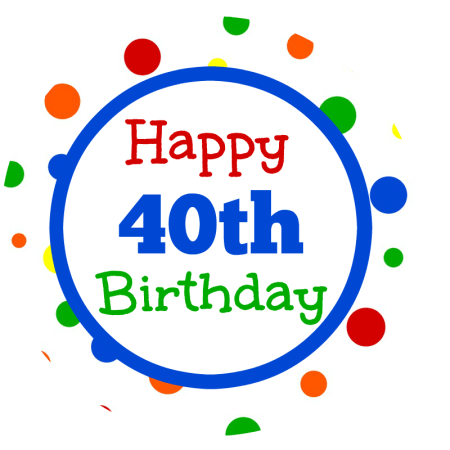 40th Birthday Gifts with Tags