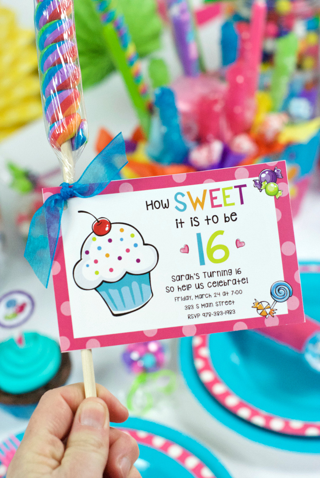 Printable Sweet 16 Birthday Party Invitations