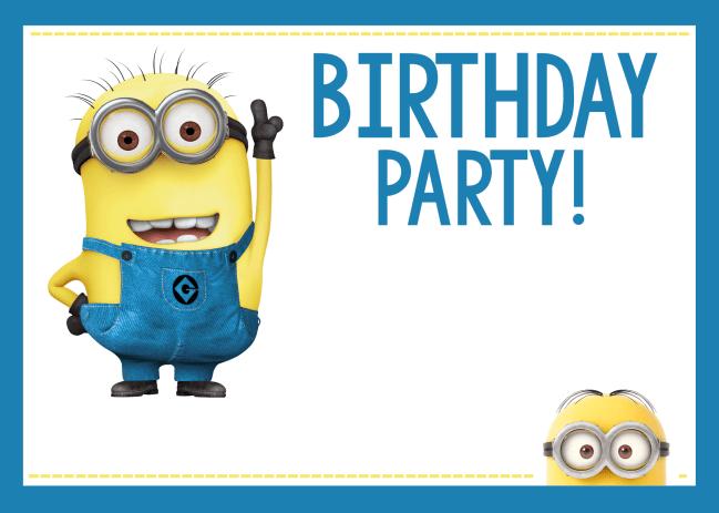 Printable Minion Birthday Invitations