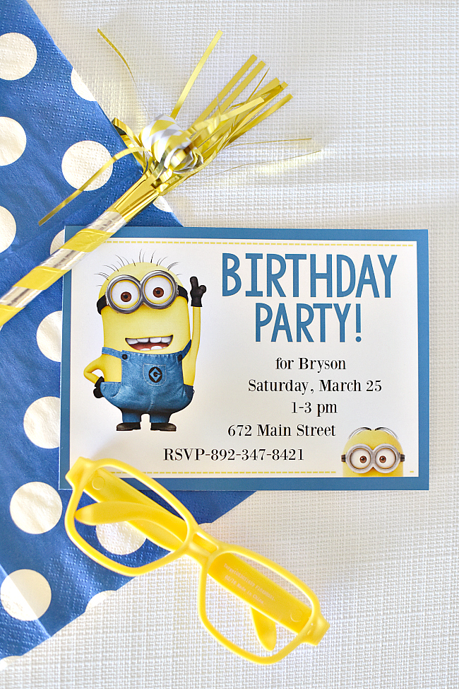 photo relating to Free Printable Minion Invitations titled Enjoyment Minion Get together Suggestions for a Birthday Enjoyable-Squared