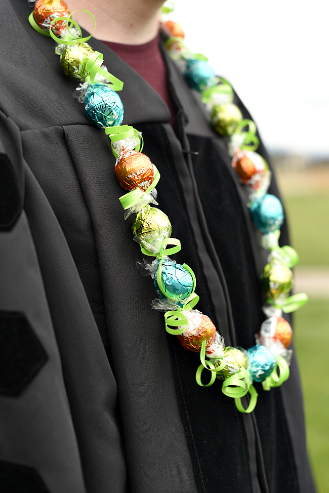 Chocolate Graduation Candy Leis Fun Squared