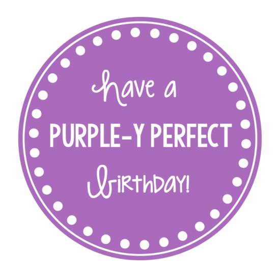 Purple Gift Tag for Birthdays